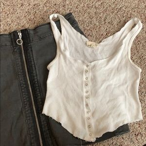 Urban Outfitters Button-Up Tank Top